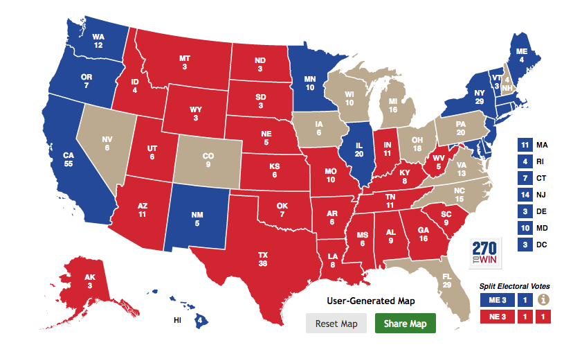 Free Electoral College Map Pinteres Final Electoral College Map - Us map electoral votes